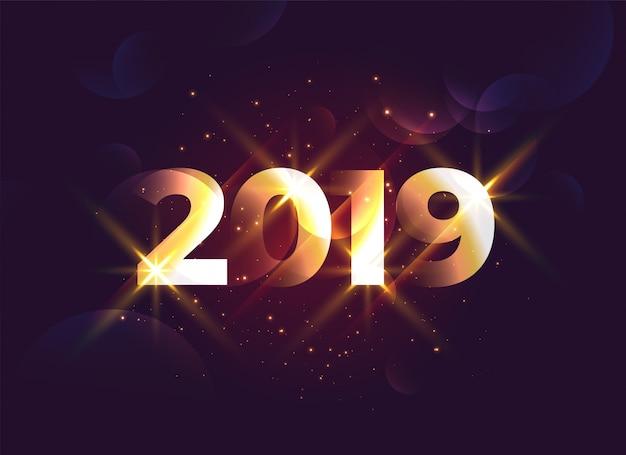 Fundo criativo brilhante do ano novo de 2019