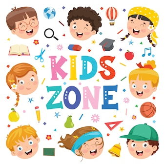 Fundo criativo com crianças engraçadas