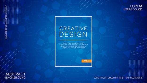 Fundo criativo com estilo geométrico abstrato moderno