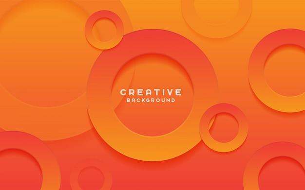 Fundo criativo com formas de círculo.