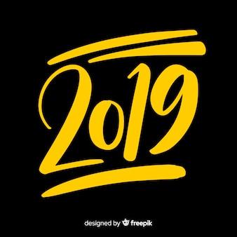 Fundo criativo de 2019 letras