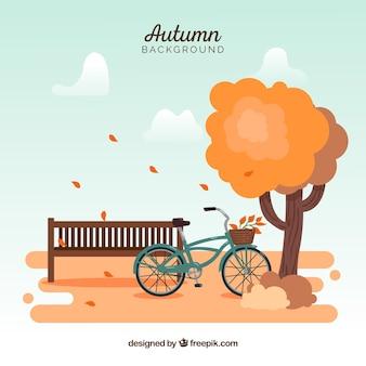 Fundo criativo de outono
