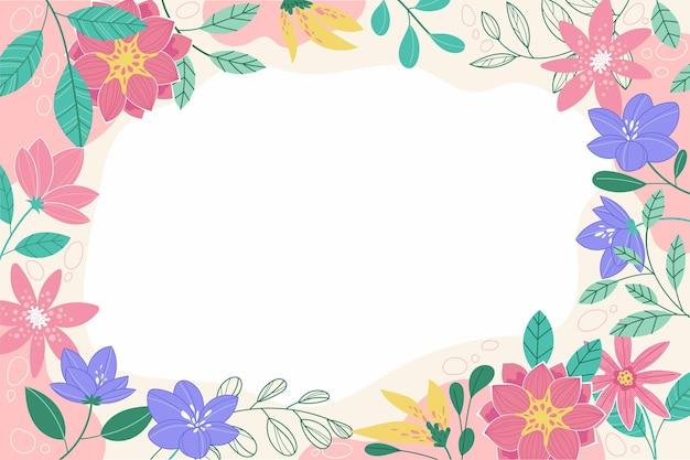 Fundo criativo desenhado na primavera