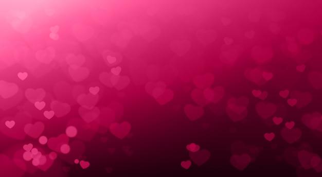 Fundo criativo do dia dos namorados coração turva bokeh bonito elegante