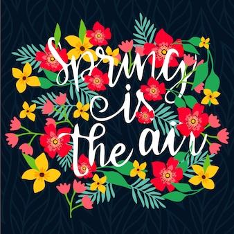 Fundo criativo primavera com flores