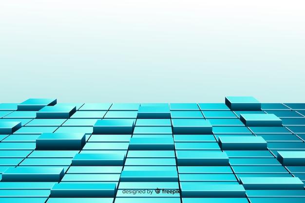 Fundo cubos chão realista