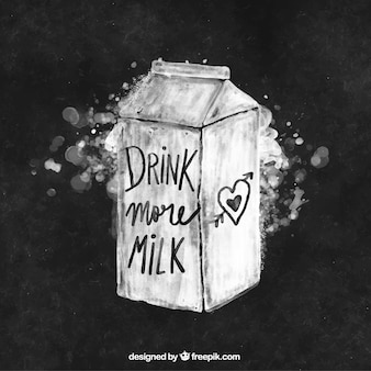 Fundo da aguarela caixa de leite