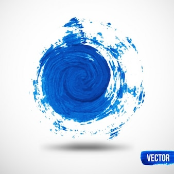 Fundo da aguarela espiral azul