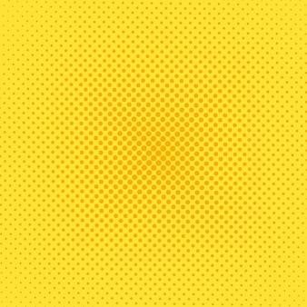 Fundo da arte pop de meio-tom. padrão amarelo em quadrinhos. ilustração vetorial.