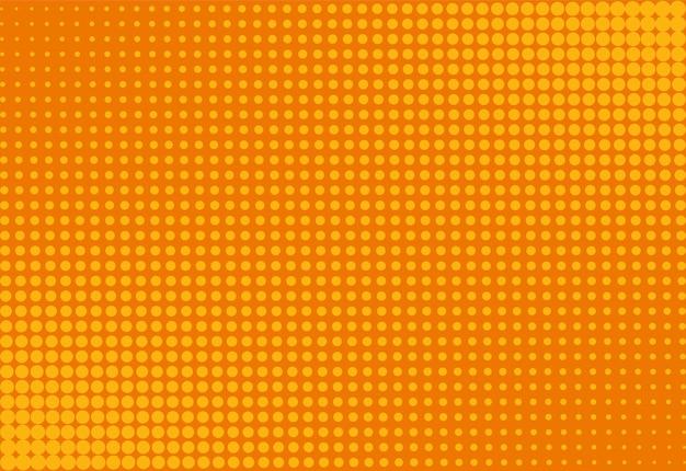 Fundo da arte pop de meio-tom. padrão de laranja em quadrinhos. ilustração vetorial. Vetor Premium
