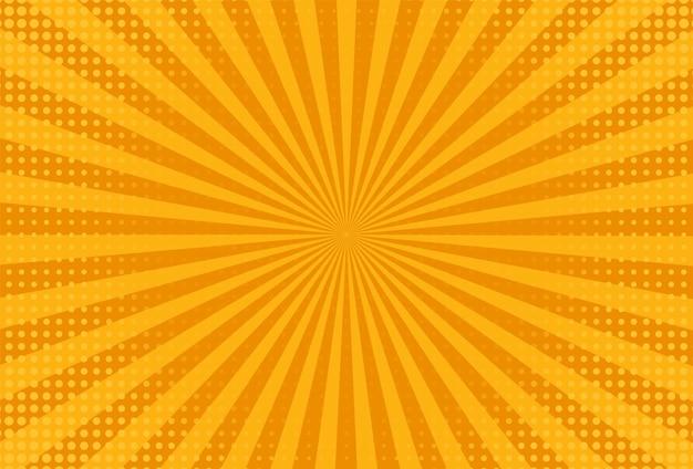 Fundo da arte pop. textura de meio-tom amarela. ilustração vetorial.