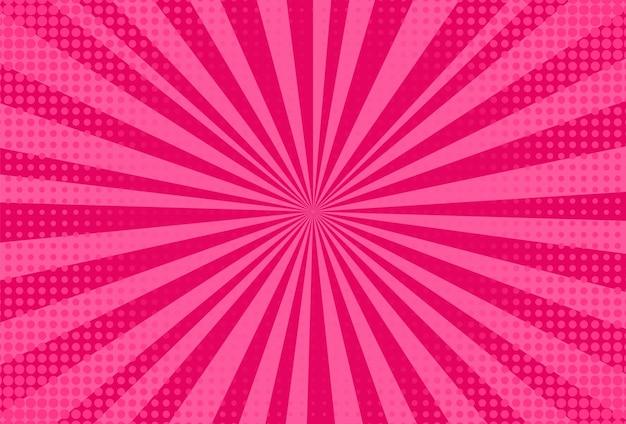 Fundo da arte pop. textura de meio-tom vermelho. ilustração vetorial.