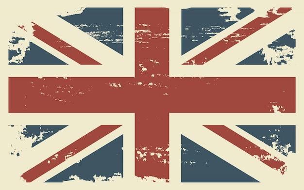 Fundo da bandeira britânica do grunge