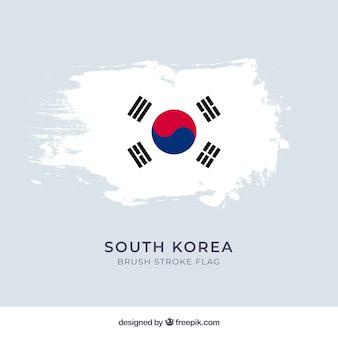 Fundo da bandeira da coreia do sul
