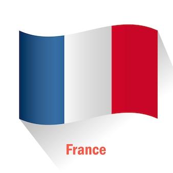 Fundo da bandeira de frança