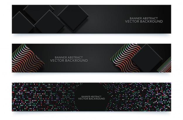 Fundo da bandeira. design moderno modelo vector