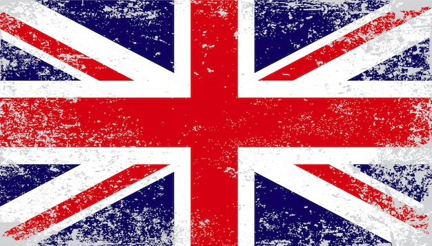 Fundo da bandeira do reino unido vintage