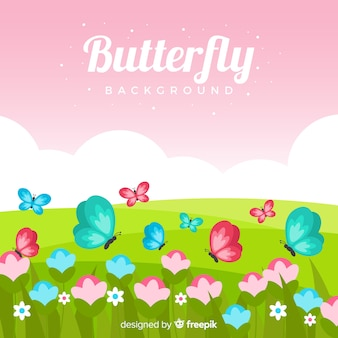 Fundo da borboleta