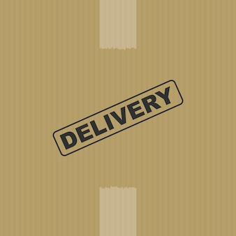 Fundo da caixa de entrega
