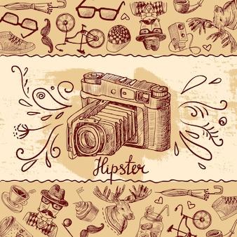 Fundo da câmera hipster