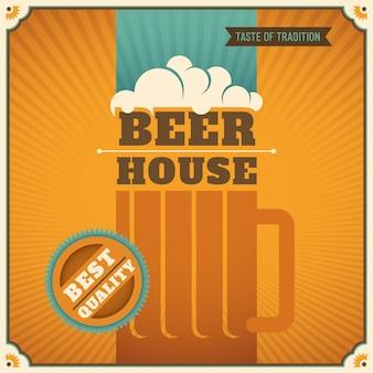 Fundo da casa de cerveja