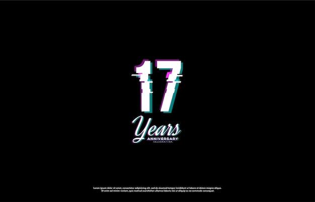 Fundo da celebração do 17º aniversário
