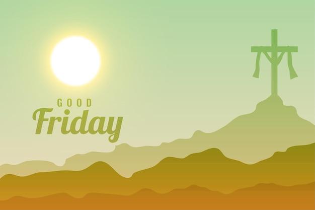 Fundo da cena celestial da sexta-feira santa