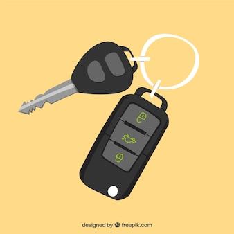 Fundo da chave do carro plano