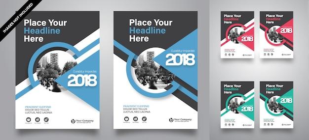 Fundo da cidade business book cover design vector template
