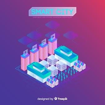 Fundo da cidade inteligente isométrica