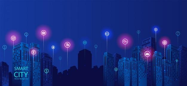Fundo da cidade inteligente