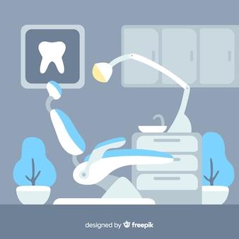 Fundo da clínica odontológica
