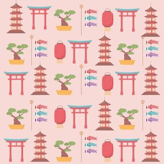 Fundo da cultura do japão