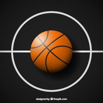 Fundo da esfera de basquetebol escuro