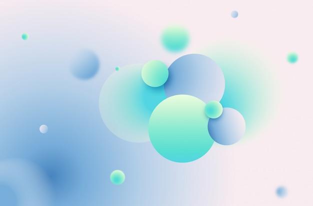 Fundo da esfera gradiente