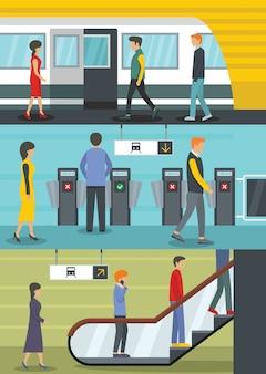 Fundo da estação de metrô