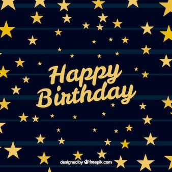 Fundo da estrela com letras do feliz aniversario