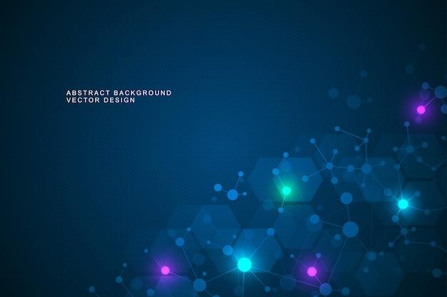 Fundo da estrutura molecular e comunicação.