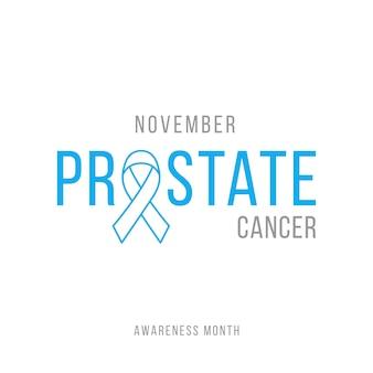 Fundo da fita azul da consciência do cancro da próstata