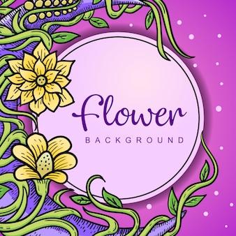 Fundo da flor colorido
