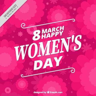 Fundo da flor-de-rosa do dia da mulher