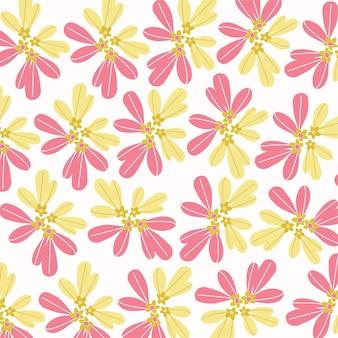 Fundo da florchamomile flowers seamless vector pattern design