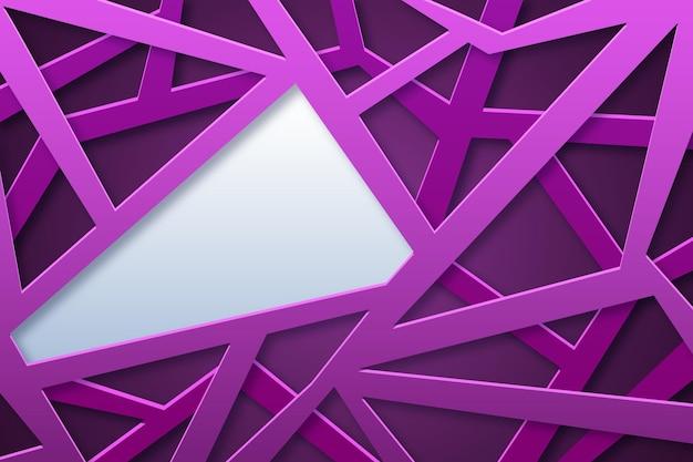 Fundo da forma abstrata do polígono do estilo do papel