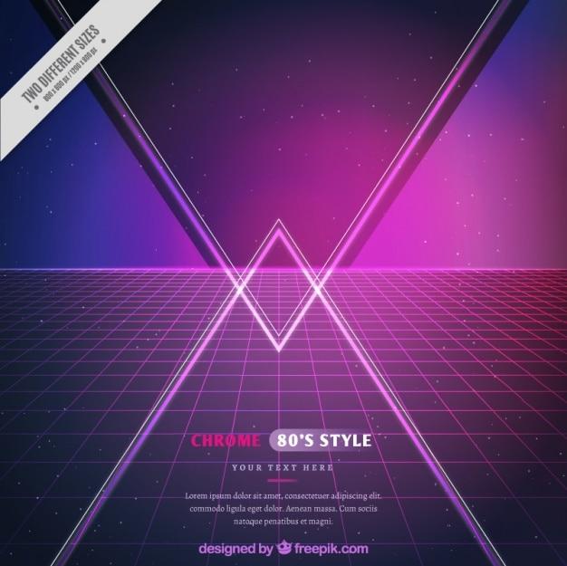 Fundo da grade com triângulos