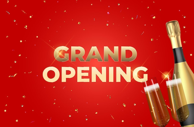 Fundo da grande inauguração.