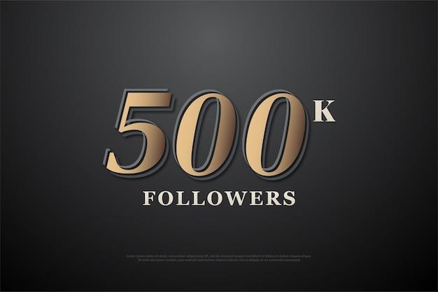 Fundo da ilustração de 500 mil seguidores