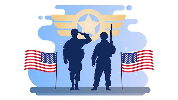 Fundo da ilustração do dia dos veteranos