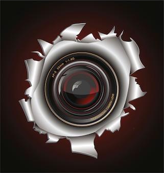 Fundo da lente da câmera