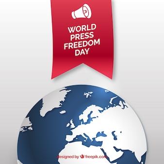 Fundo da liberdade de imprensa mundial do dia
