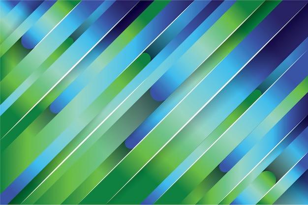 Fundo da linha abstrata verde e azul